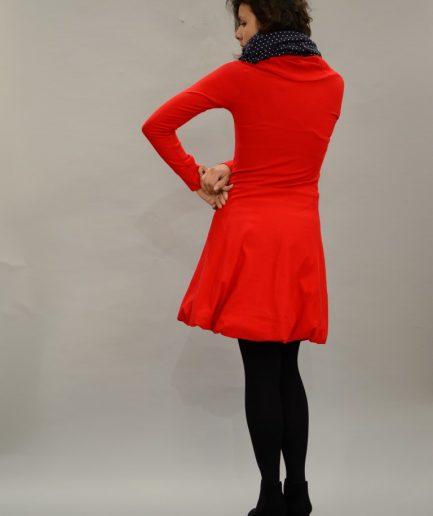 Hoodie Kleid rot