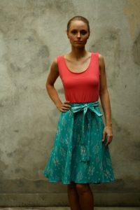 Frauen Sommerkleid, green fashion