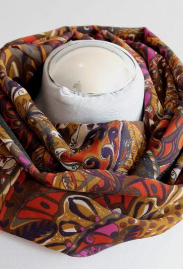 Schal für Frauen, circlescarf, grüne Mode