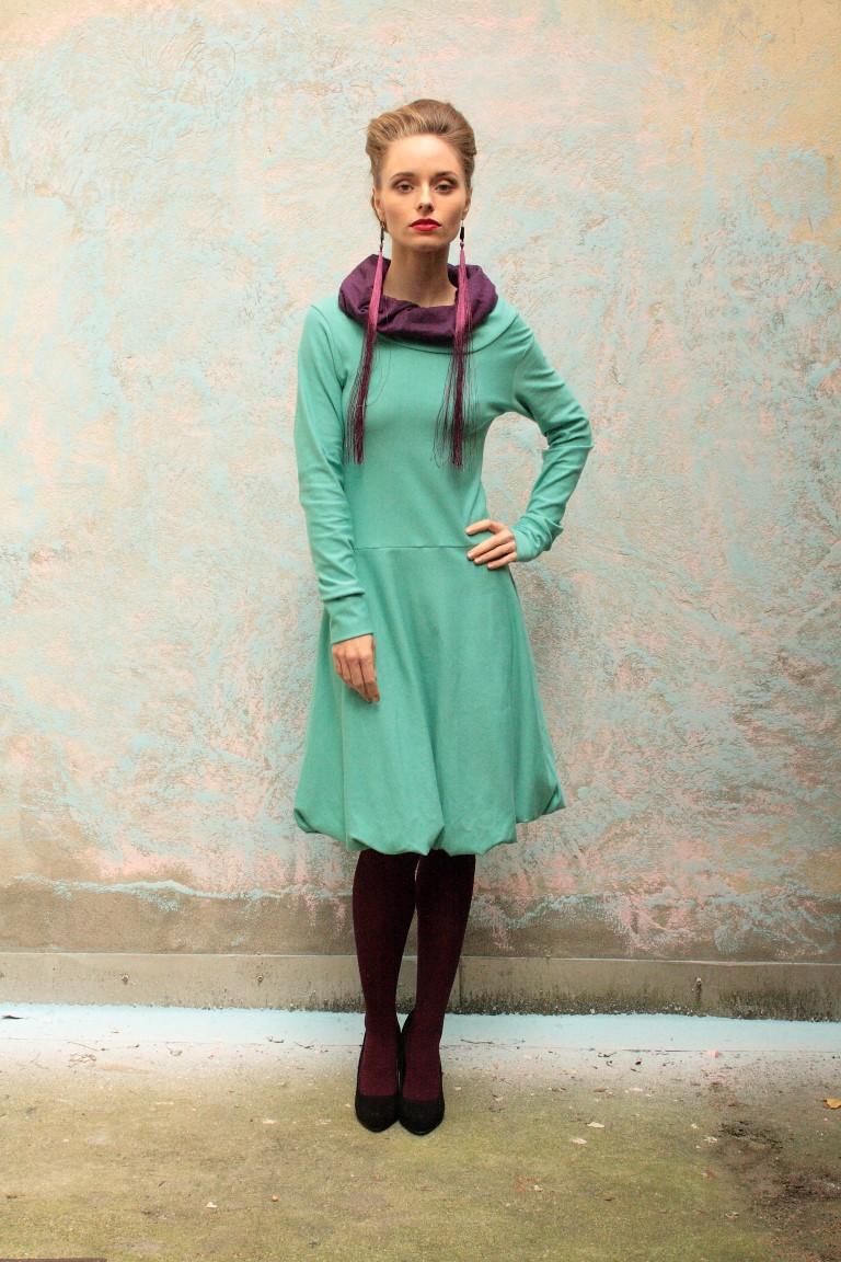 Ballonkleid, Hoodie Kleid, pastelfarben