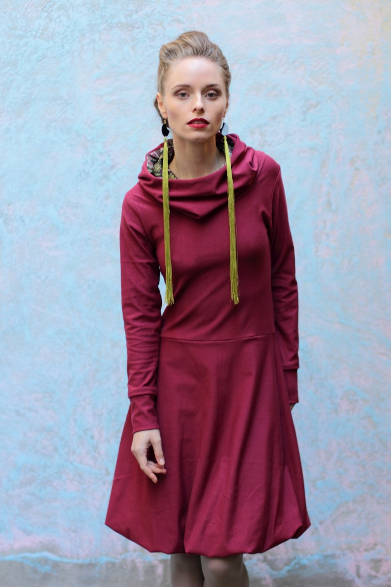 Kapuzenkleid, green fashion, eco fashion, slowfashion