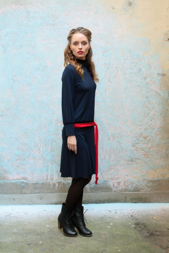 langarm Kleid, slowfashion, vegan