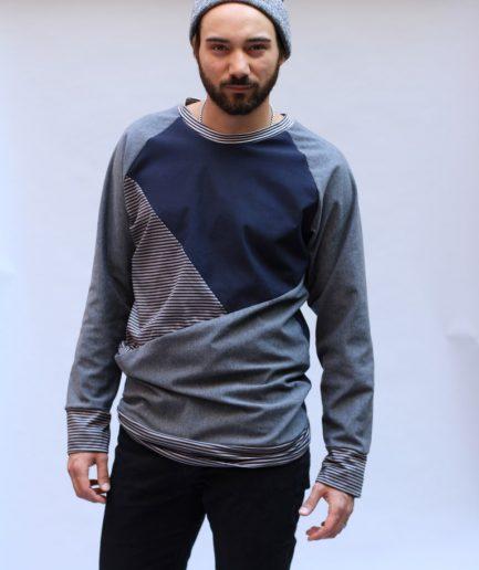 Männer Sweater blau
