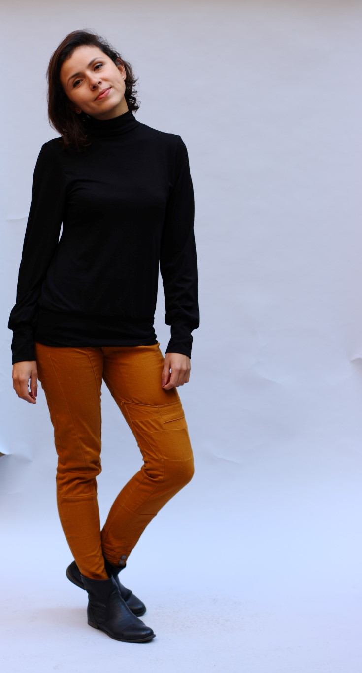 Turtleneck schwarz (Medium)