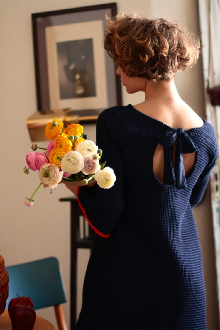 blaues Kleid Valerie