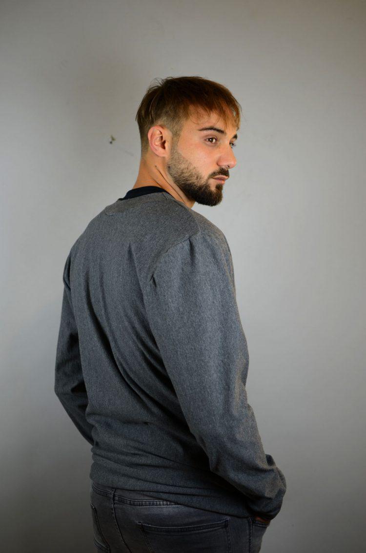 grau melierte Männerjacke