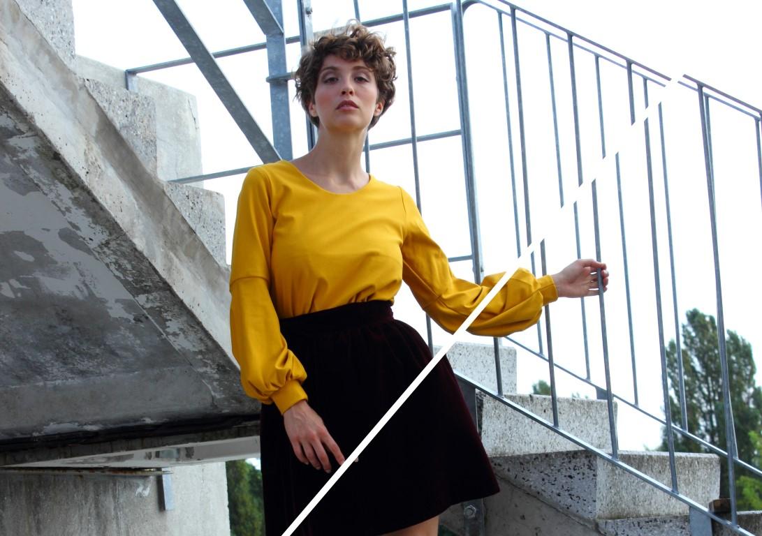 Ballonärmel sweater
