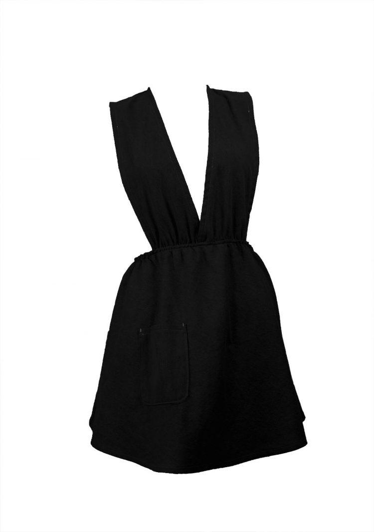 Latz Kleid schwarz