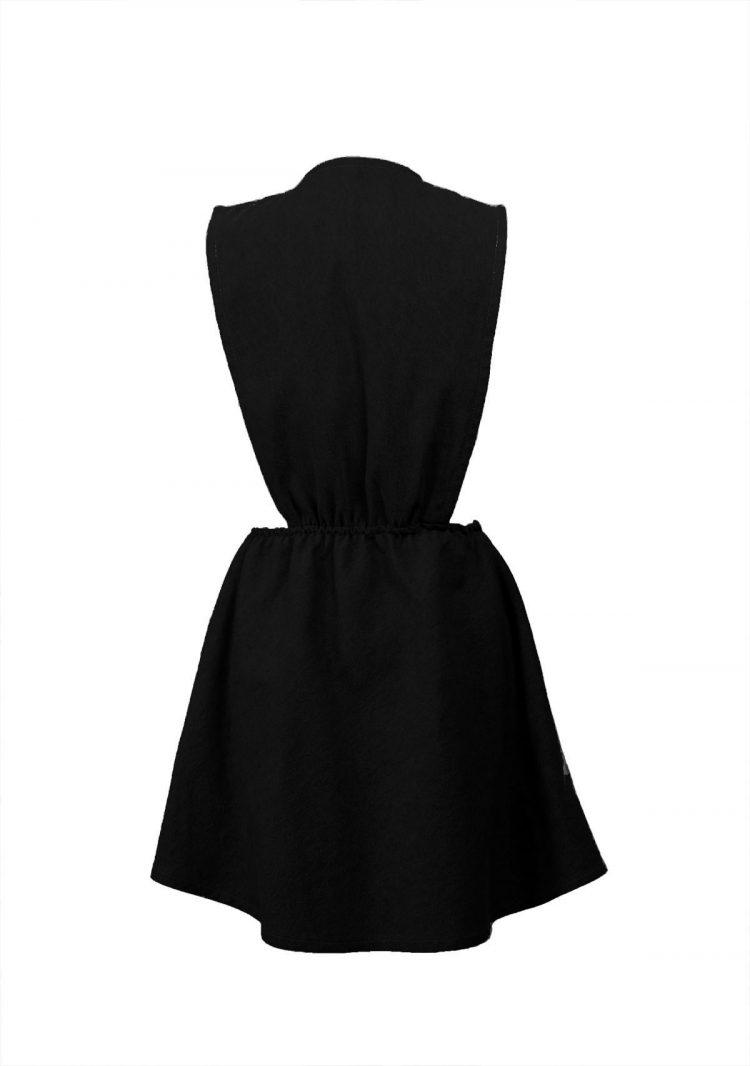 Latz Kleid schwarz2