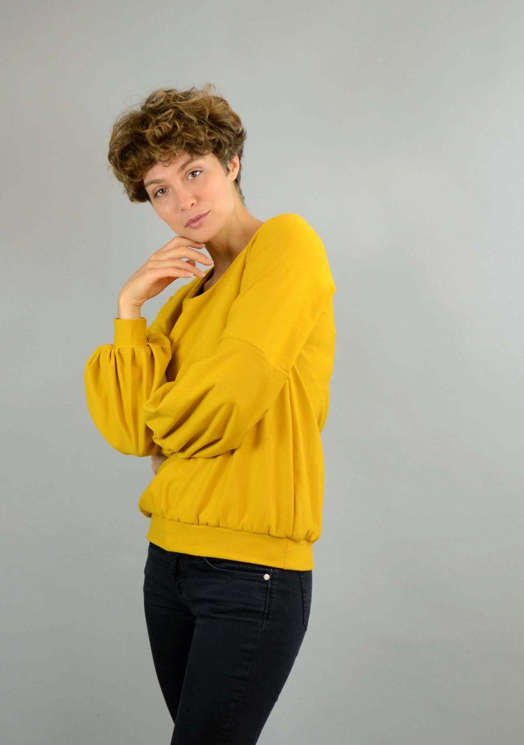 Sweater senfgelb