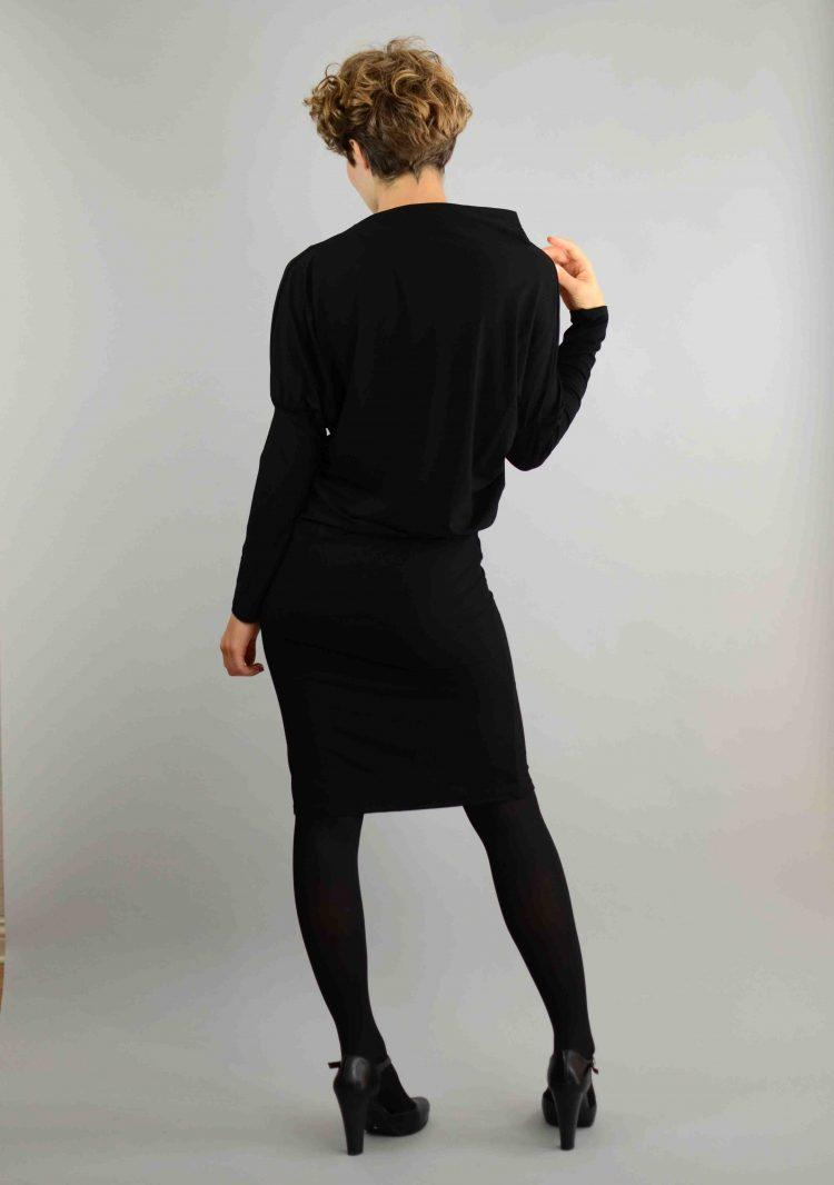 asymmetrische kleid schwarz