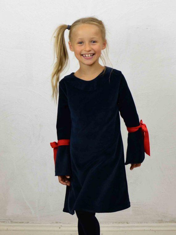 Blaues Mädchen Kleid