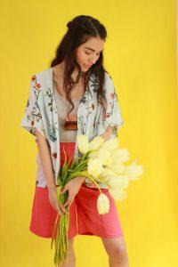 florale Kimono Jacke