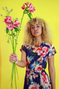 florales Wickelkleid