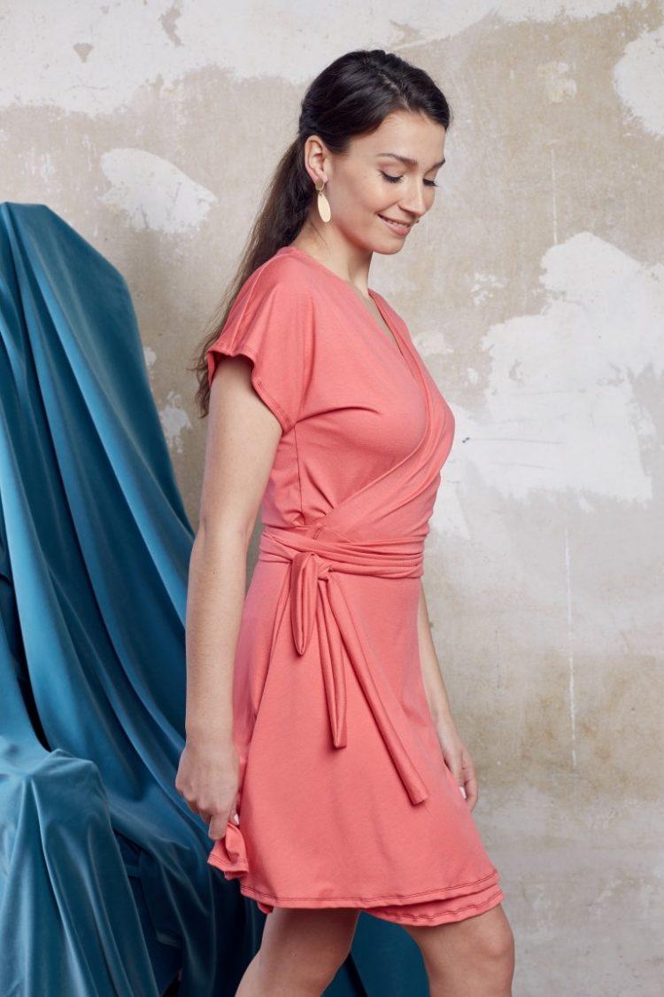 Wickelkleid pink2 (Medium)