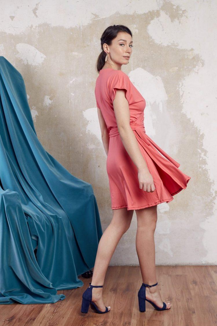Wickelkleid pink4 (Medium)