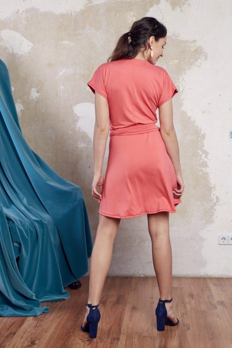 Wickelkleid pink5 (Medium)
