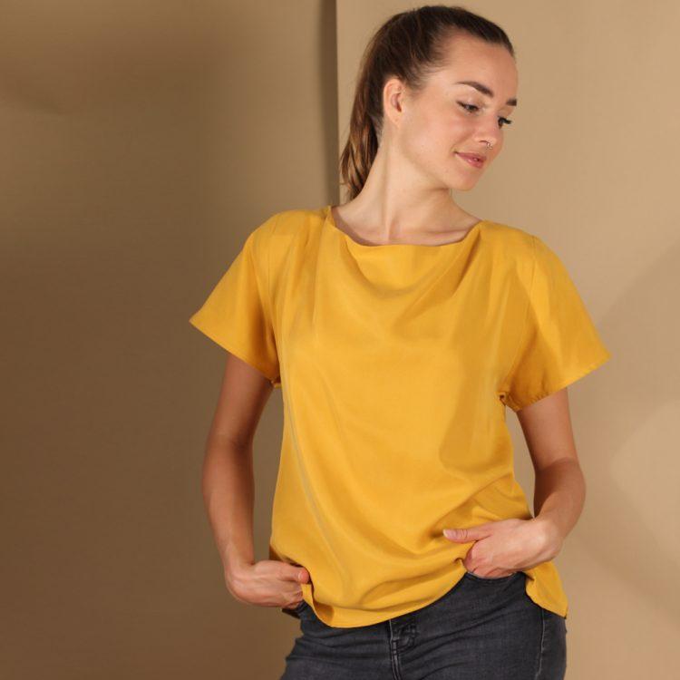 Tencel Shirt in Gelb