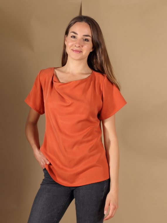 Tencel Shirt in Rost