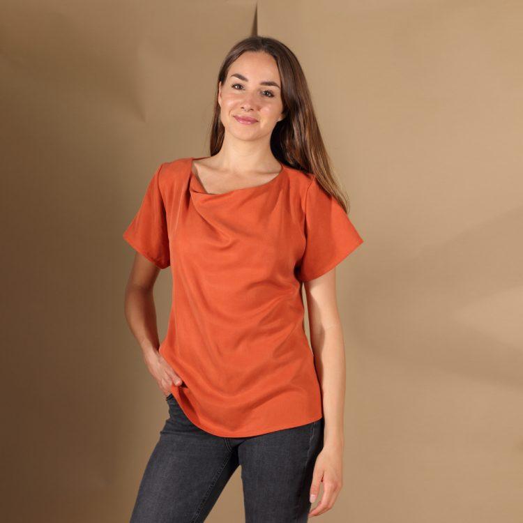 Tencel Shirt in Rost