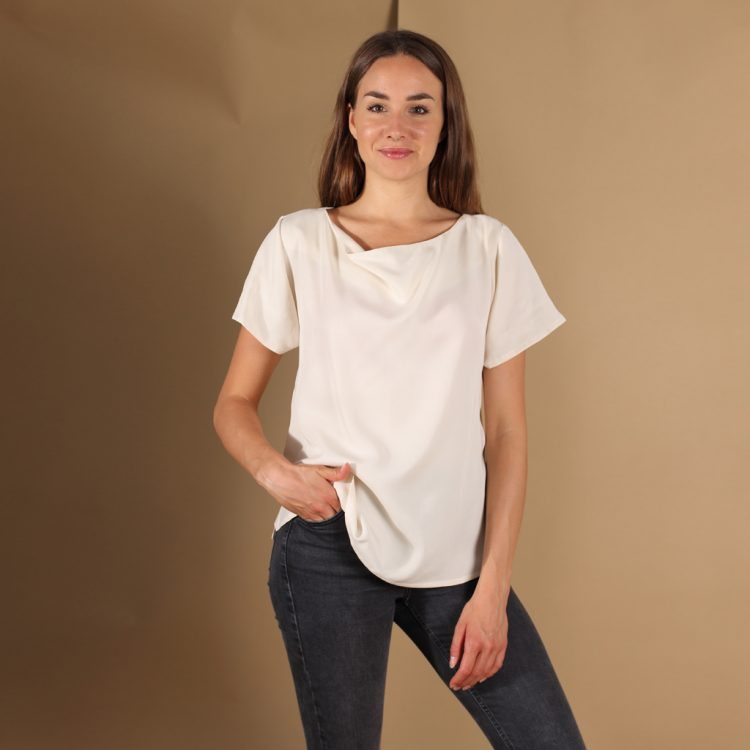 Tencel Shirt in Weiß