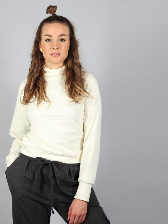Turtleneck Pullover in creme weiß