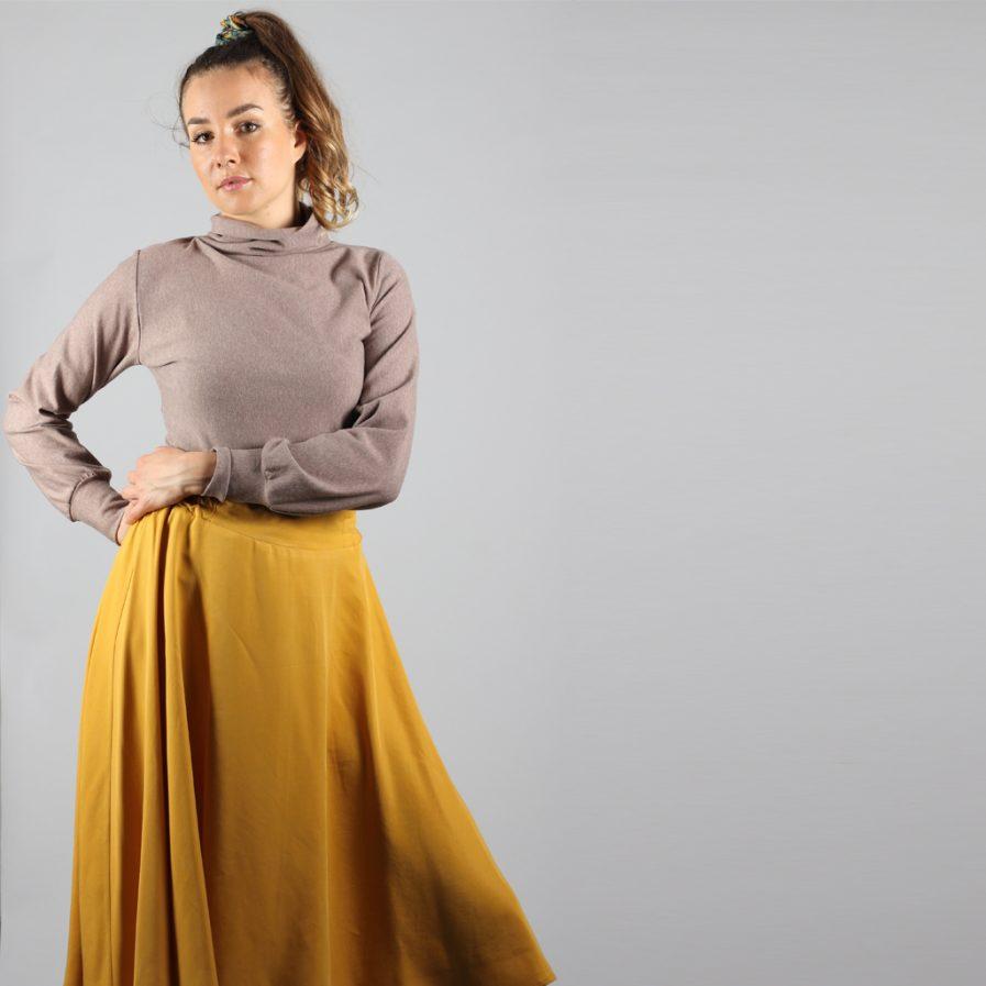 Turtleneck Pullover in braun