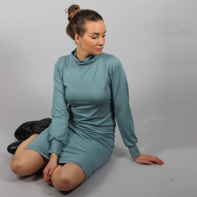 Schlauchkleid blau3