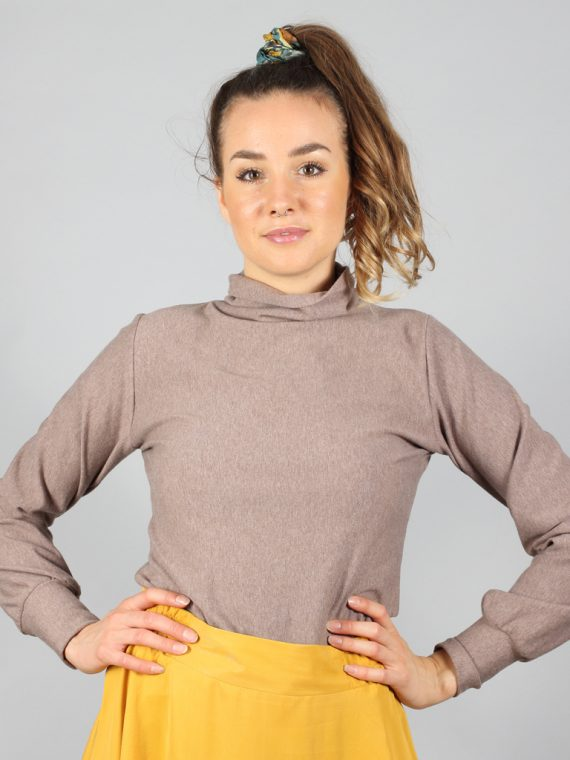Turtleneck Pullover in braun