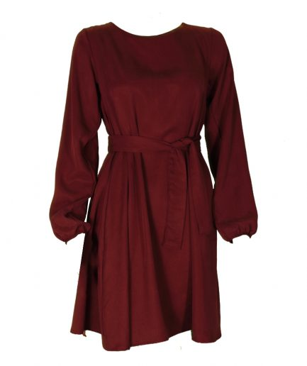 Tencel Kleid in berry