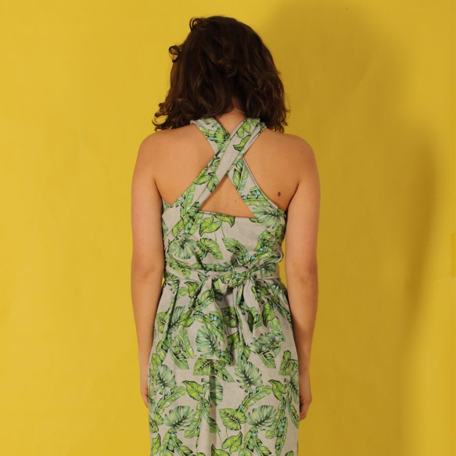 """sommer wickelkleid """"leafs"""" mit blättermuster  mandutrap"""