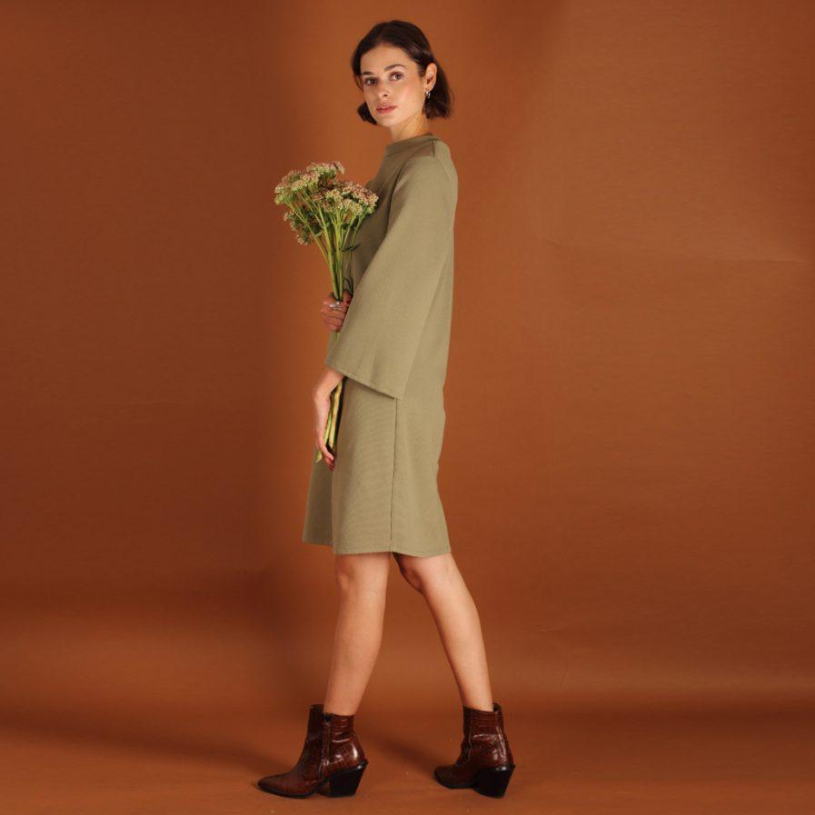 Minikleid olive