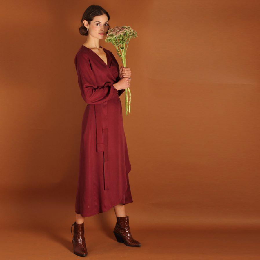 Tencel Kleid in berry